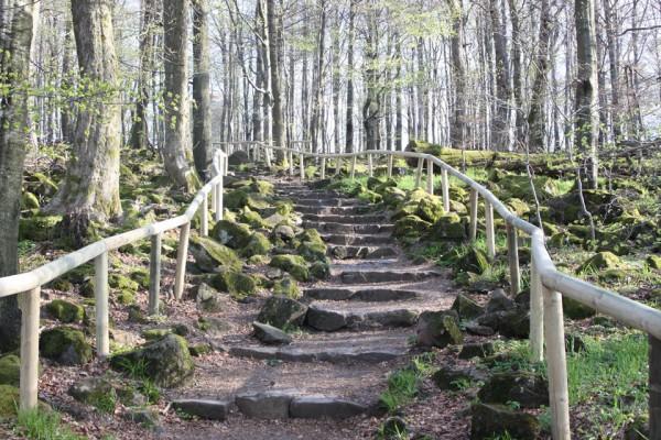 Taufstein in der Vulkanregion Geopark Vogelsberg